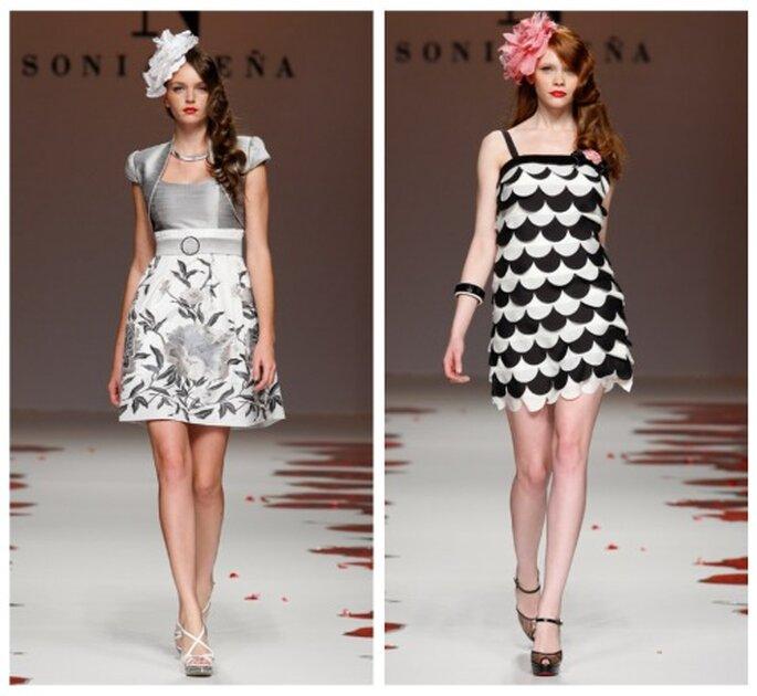 Elegant und modern: Brautmode für's Standesamt von Sonia Peña aus der Brautmoden-Kollektion 2012