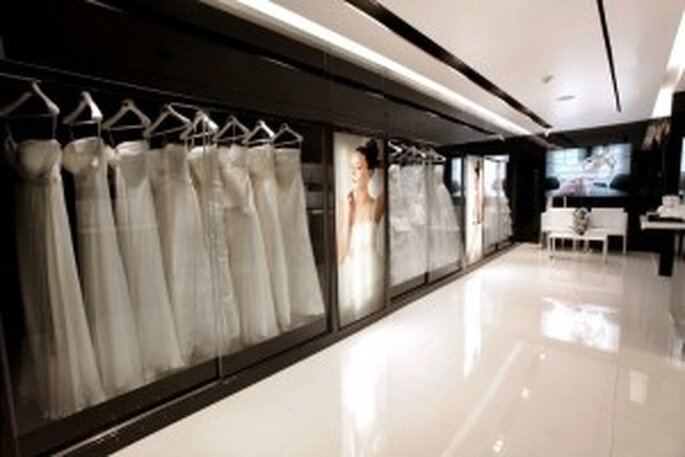 Colecciones de novia Rosa Clará en la nueva tienda de México