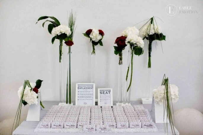 Escort cards table Label' Emotion Montpellier Wedding Planner