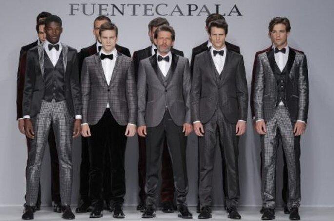 Collection pour mariés Fuentecapala 2014. Photo: Barcelona Bridal Week / Ugo Cámara