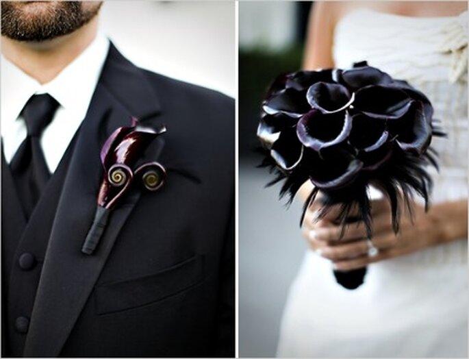 Fleurs pour mariage gothique - Weddingflower-s.info