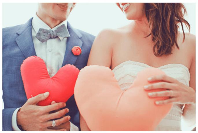 Una boda inspirada en San Valentín con muchos corazones - Our Labor of Love