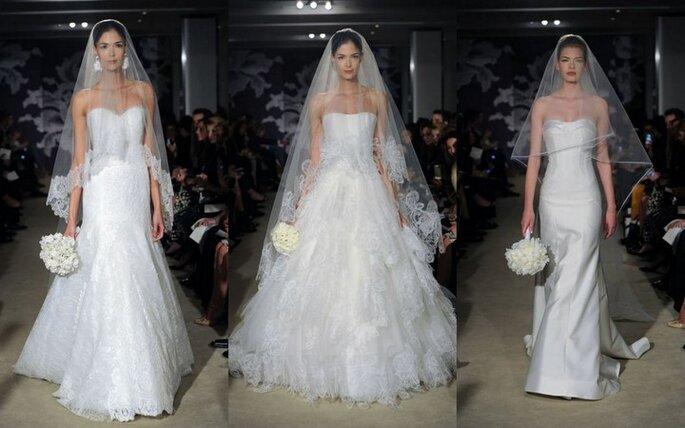 Velos de novia con largo medio de Carolina Herrera 2015