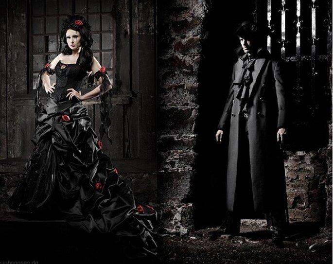 Extravagante Brautmode und ausgefallene Mode für den Herren