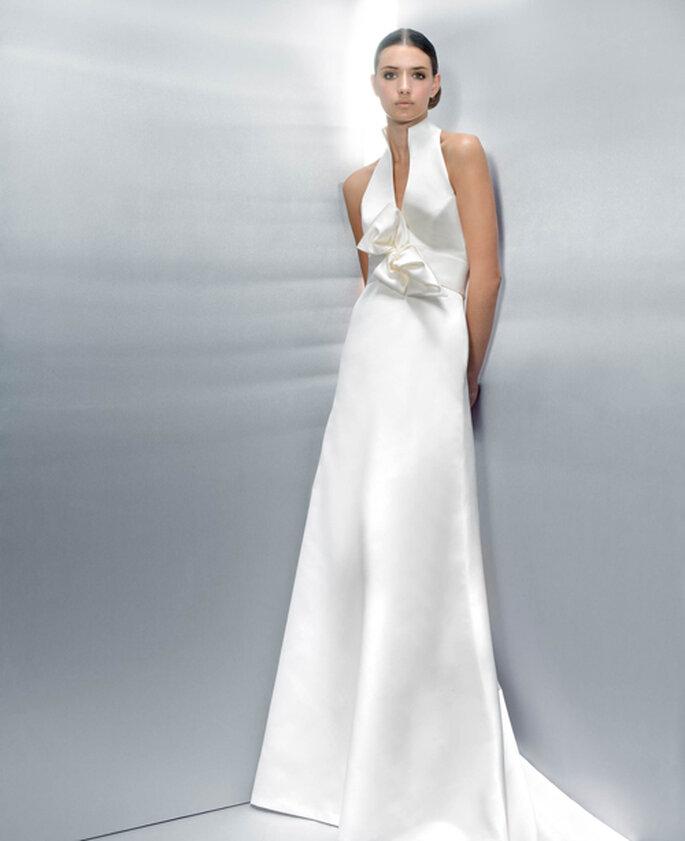 Tombé impeccable pour cette robe de mariée Jesus Peiro 2012