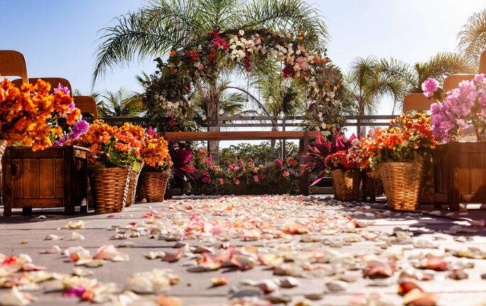 cerimônia de casamento ao ar livre