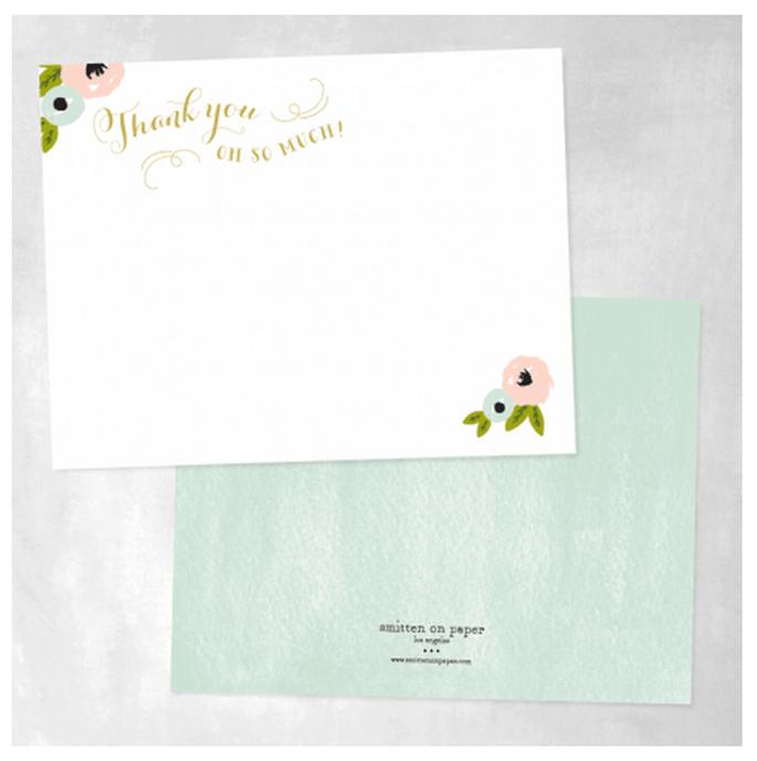 Elige tipografías divertidas y únicas para tus tarjetas de agradecimiento - Foto Smitten on Paper