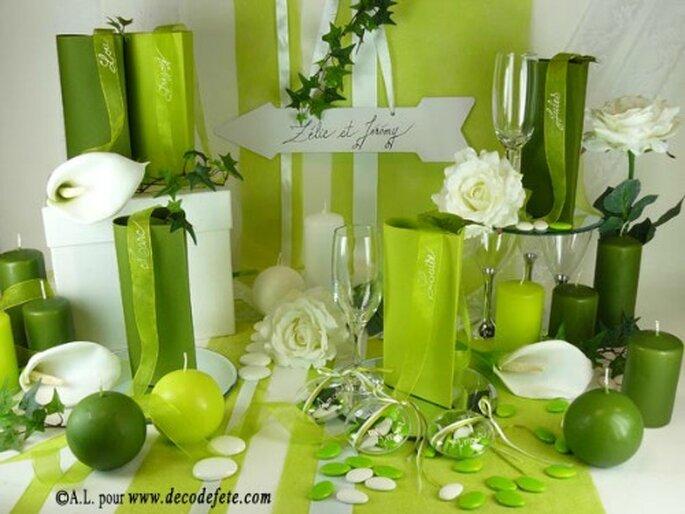 Assortissez vos nappes et serviettes à votre thème de mariage - Photo : decodefete.com