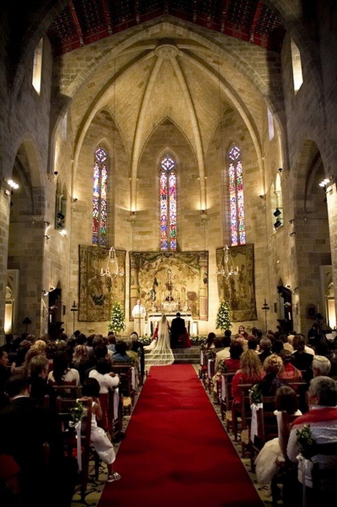 boda religiosa, boda en un castillo