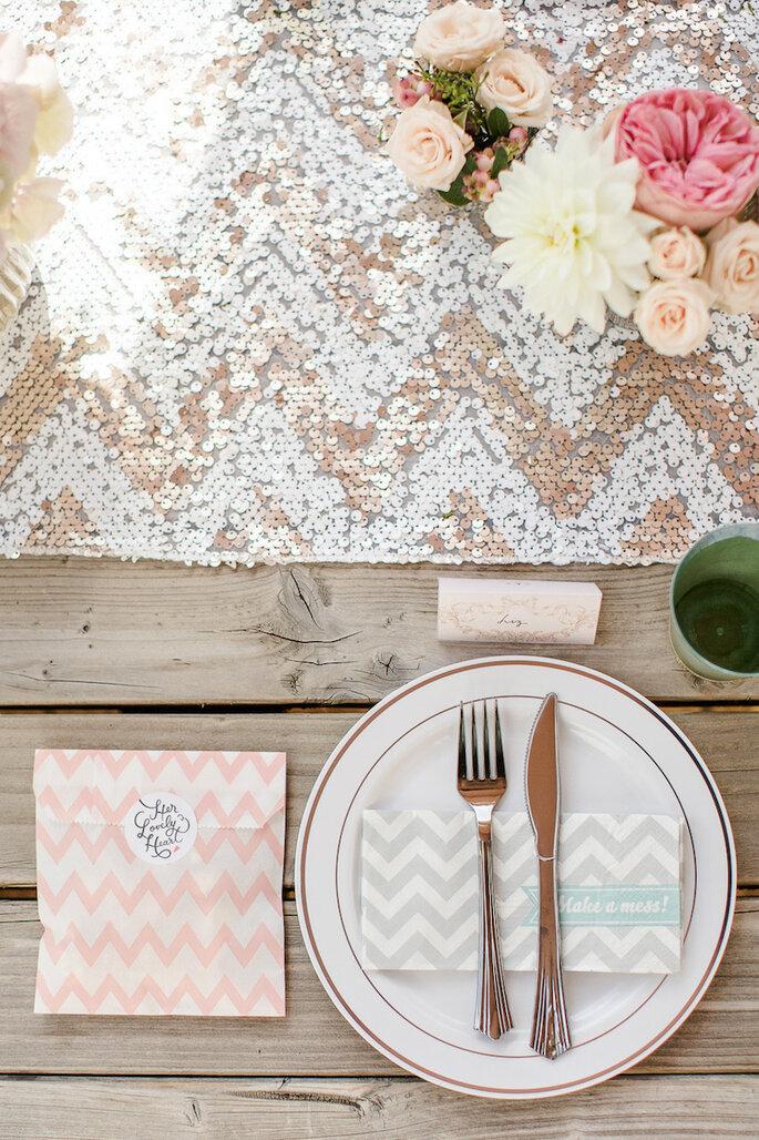 Caminos de mesa para la decoración de boda - Marianne Taylor Photography