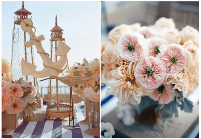 Los centros de mesa con flores más elegantes para 2014 - Foto Troy and Aimee Grover