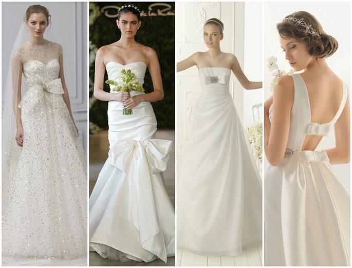 dc98b88f72b8 Salvare Abiti da sposa 2013 con fiocchi. Da sinistra Monique Lhuillier  Bridal Collection 2013