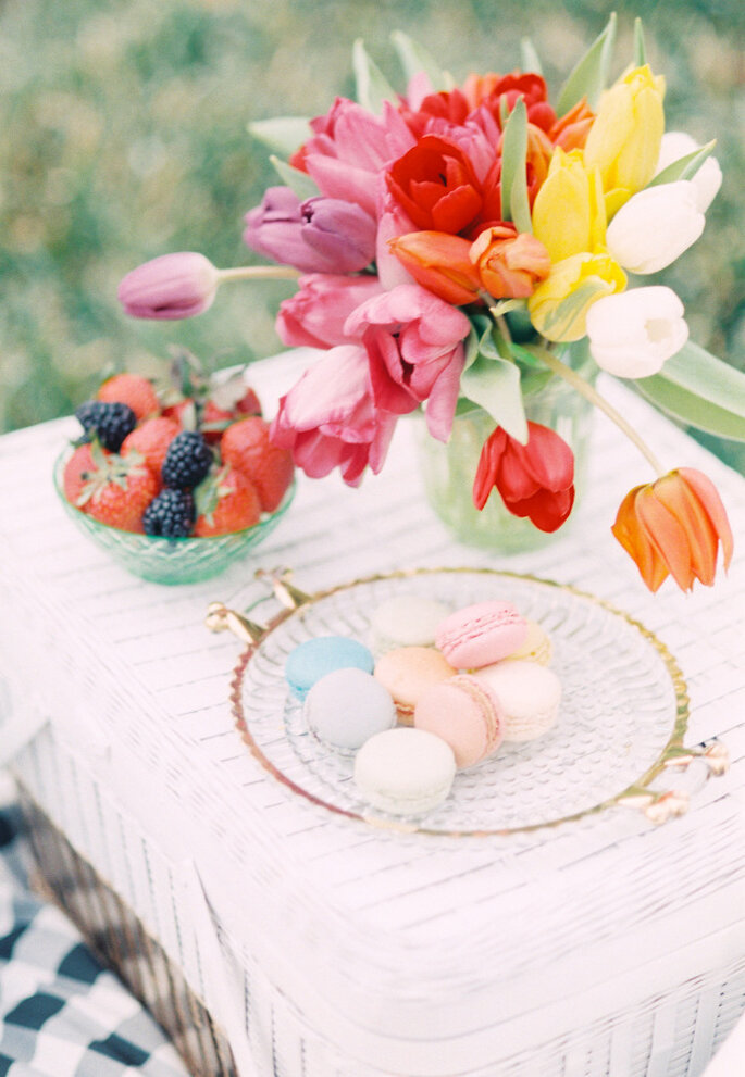 decoración con tulipanes - Lisa Dolan Photography