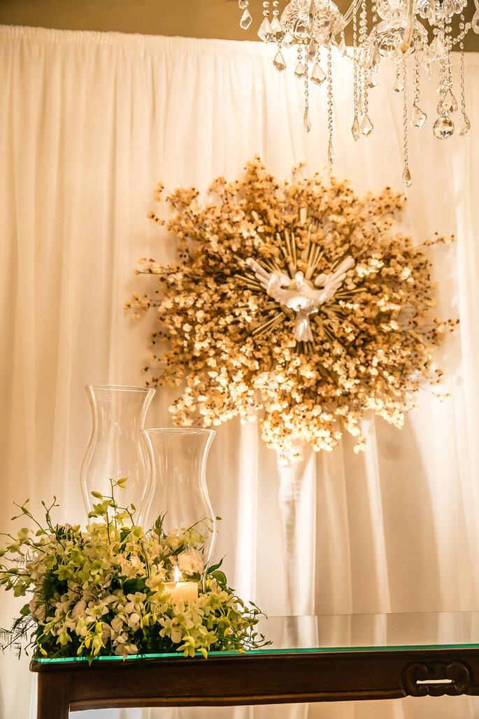 decoração altar de casamento