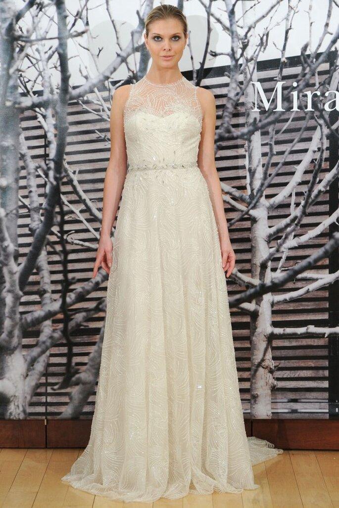 Vestidos de novia primavera 2015 con inspiraciones ultra femeninas - Foto Mira Zwillinger