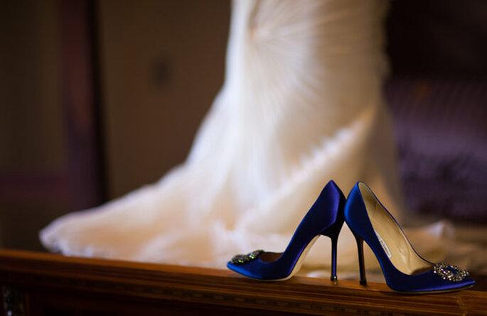 Something blue: sapatos azuis para noivas modernas