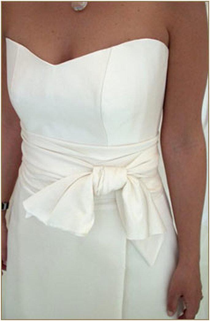 Robe de mariée Géraldine Lemonnier-Leblanc - Création sur-mesure, ceinture nouée