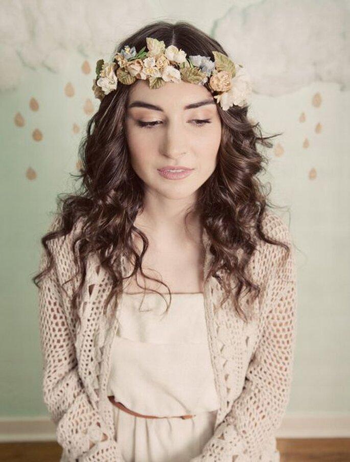 Corona de flores vintage. Foto: Mignonne Handmade