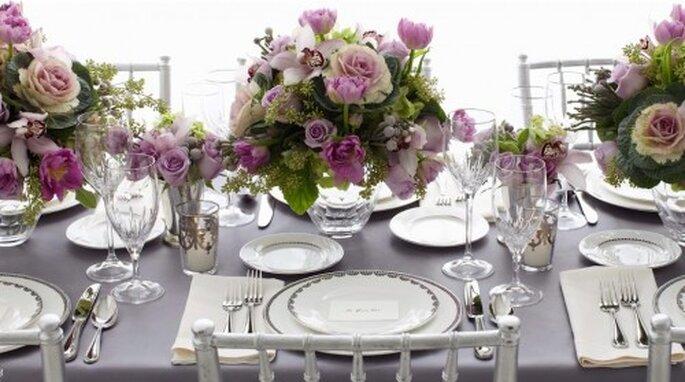 Elegante decoración de boda al estilo de Vera Wang
