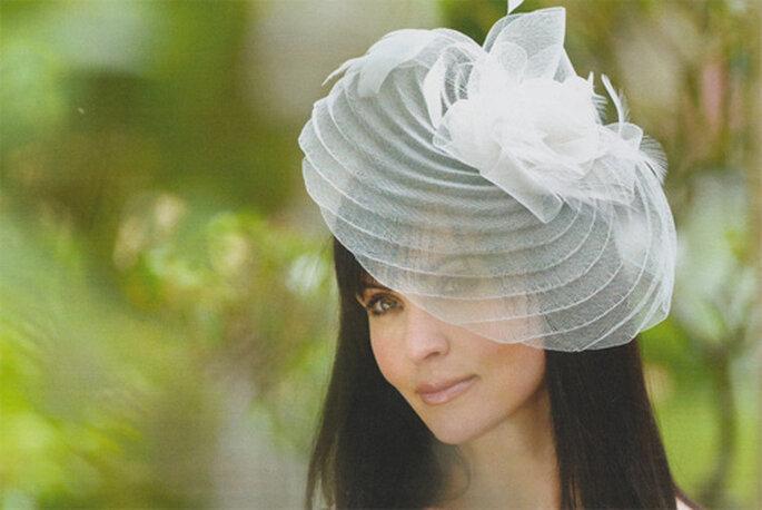 Chapeau de mariée en tulle