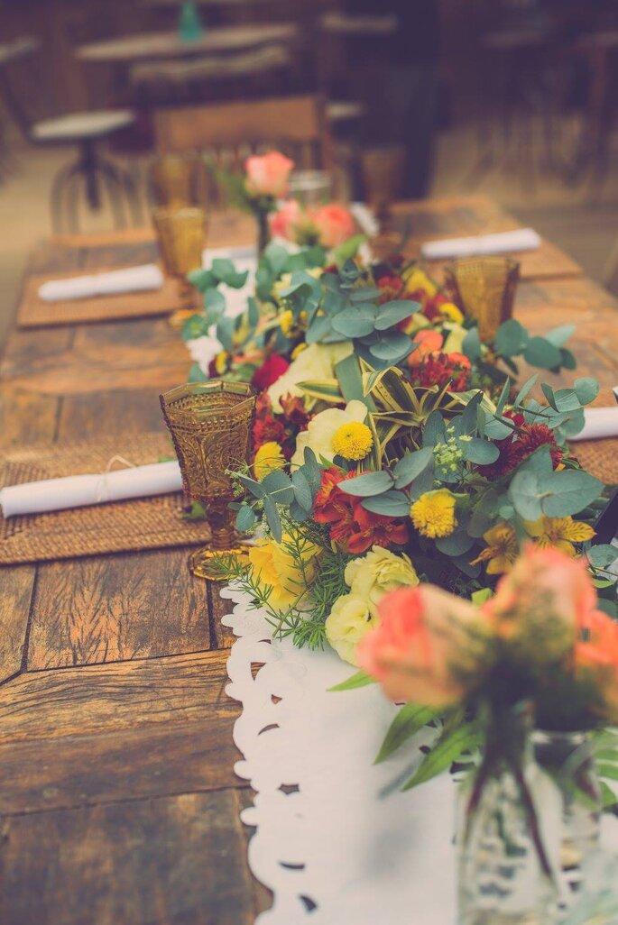 Flores da mesa