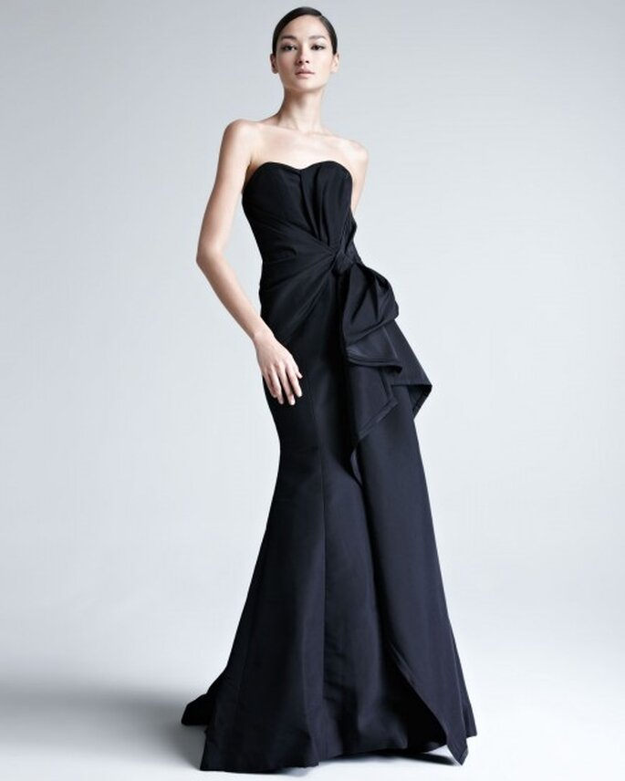 Vestidos De Fiesta Elegantes En Color Negro De Carolina Herrera