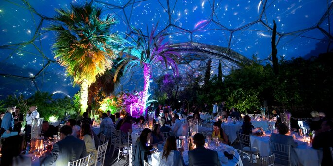 Mediterraneann Biome at Night - The Eden Project