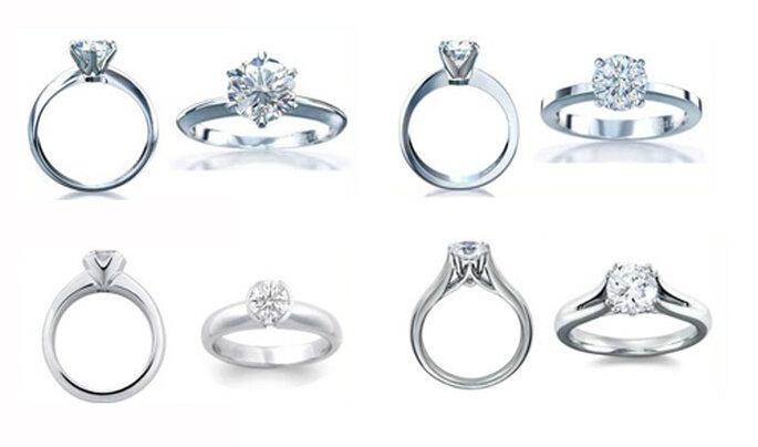 Anillos de compromiso con un diamante solitario - Foto: Varré Joyeros