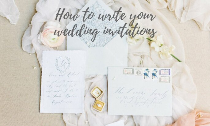 Pleasant How To Write Your Wedding Invitations In 5 Simple Steps Personalised Birthday Cards Beptaeletsinfo