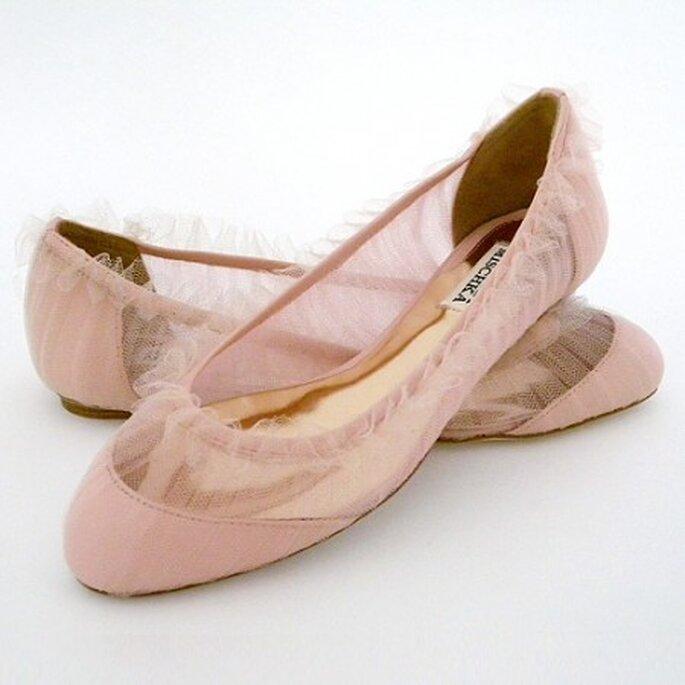 Zapatos planos para novia de Badgley Mischka