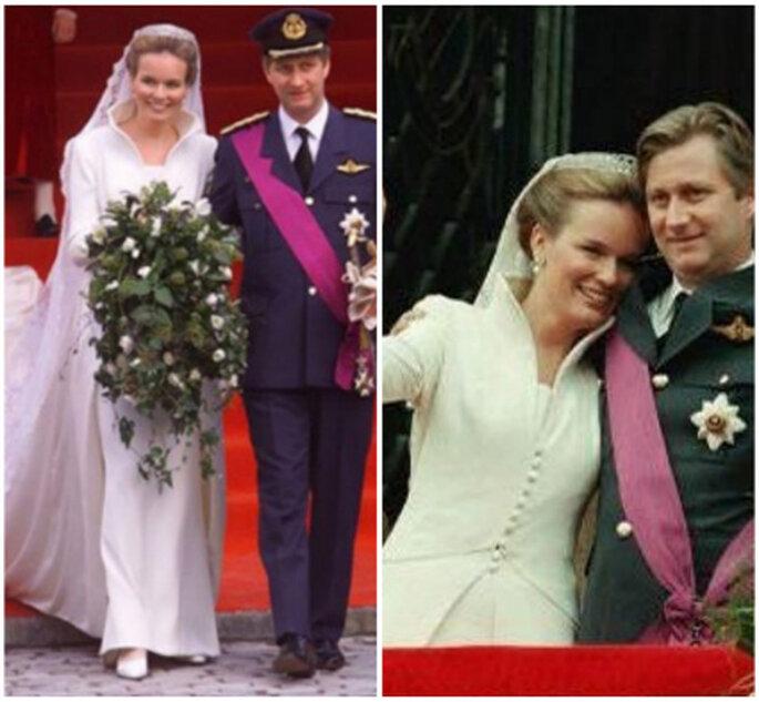 Vestido de noiva da Princesa Matilde da Bélgica