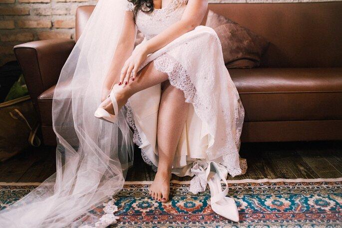 Sapato da noiva: Durval Calçados Finos - Foto: Amanda Francelino Fotografia