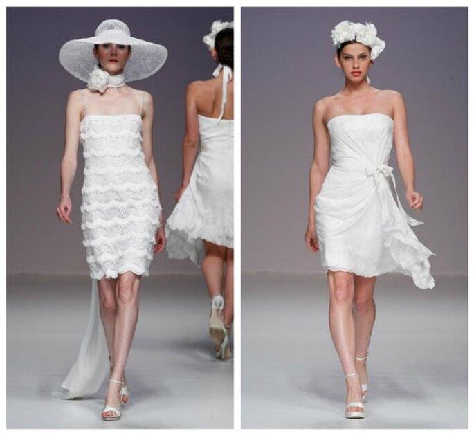 Schicke kurze Brautkleider von Cymbeline aus der Kollektion 2012.