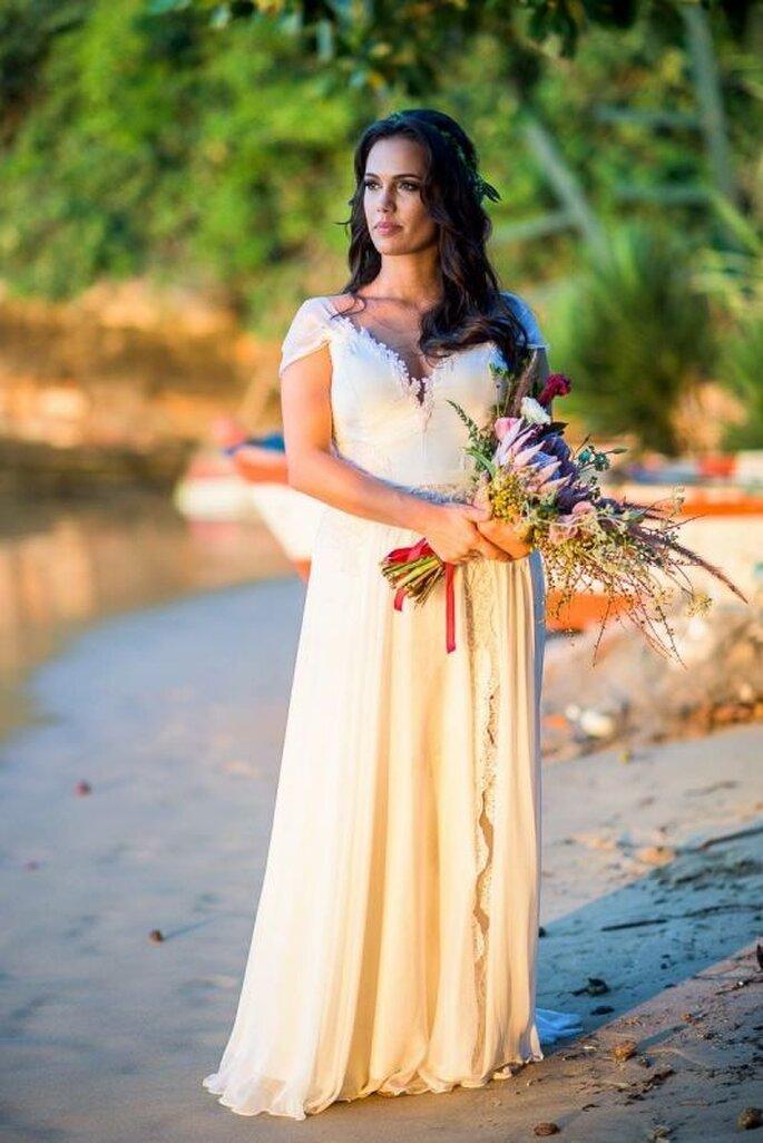 Vestido lindo para casamento ao ar livre