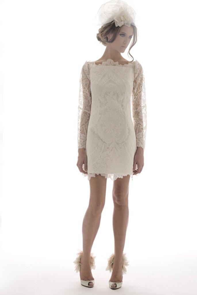 Kurzes Hochzeitskleid Modell Belle von Elizabeth Fillmore - Foto:www.elizabethfillmorebridal.com