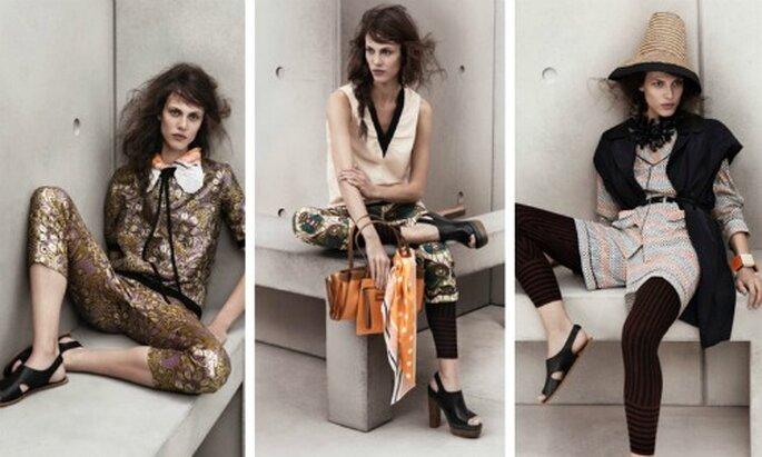 Collezione ricca di stampe e colori quella creata da Marni per H&M