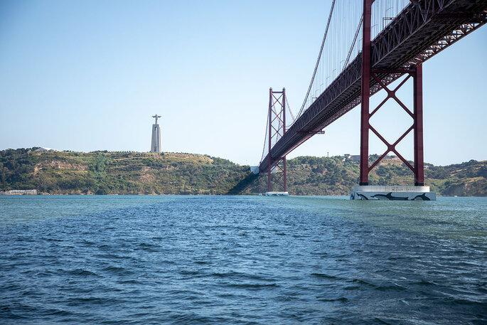 Vista para a ponte 25 de Abril