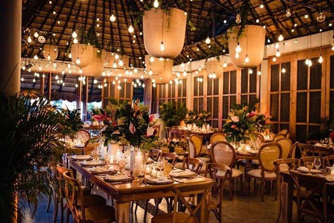 Next Weddings Lámparas en rattan