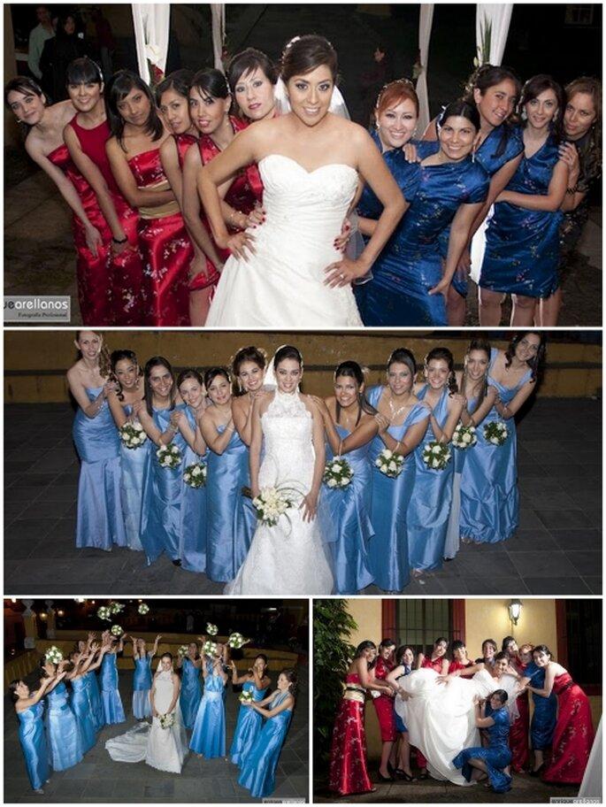 Damas de honor de una boda mexicana. Foto: Enrique Arellanos