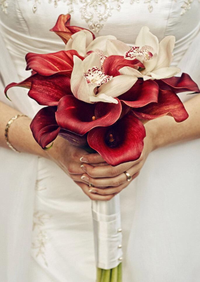 Ramo de novia minimalista. Foto: Tu boda en Rosa