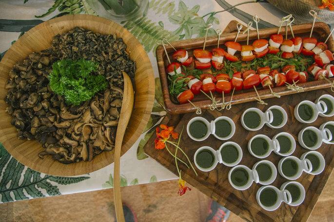 Ilhas gastronômicas para casamento
