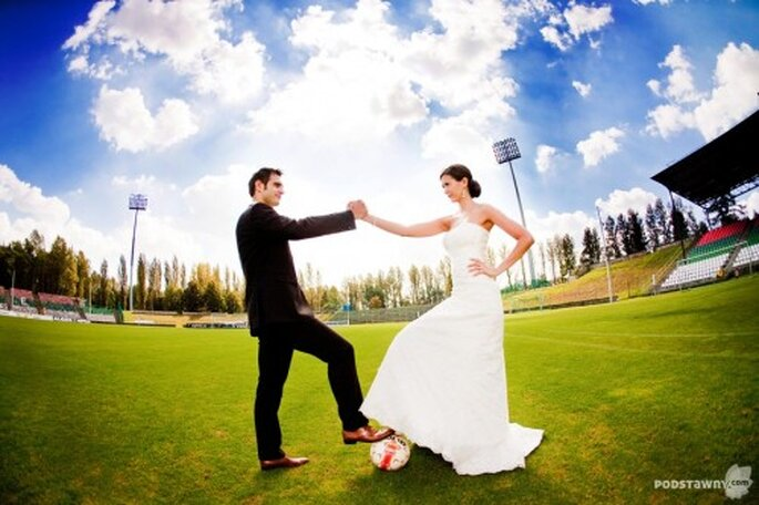 ślub fanów piłki nożnej