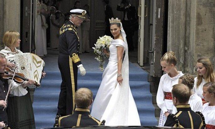 O rei Carlos Gustavo da Suécia e a princesa Victoria
