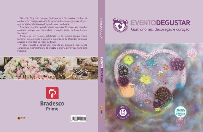 Livro Evento Degustar: gastronomia, decoração e coração