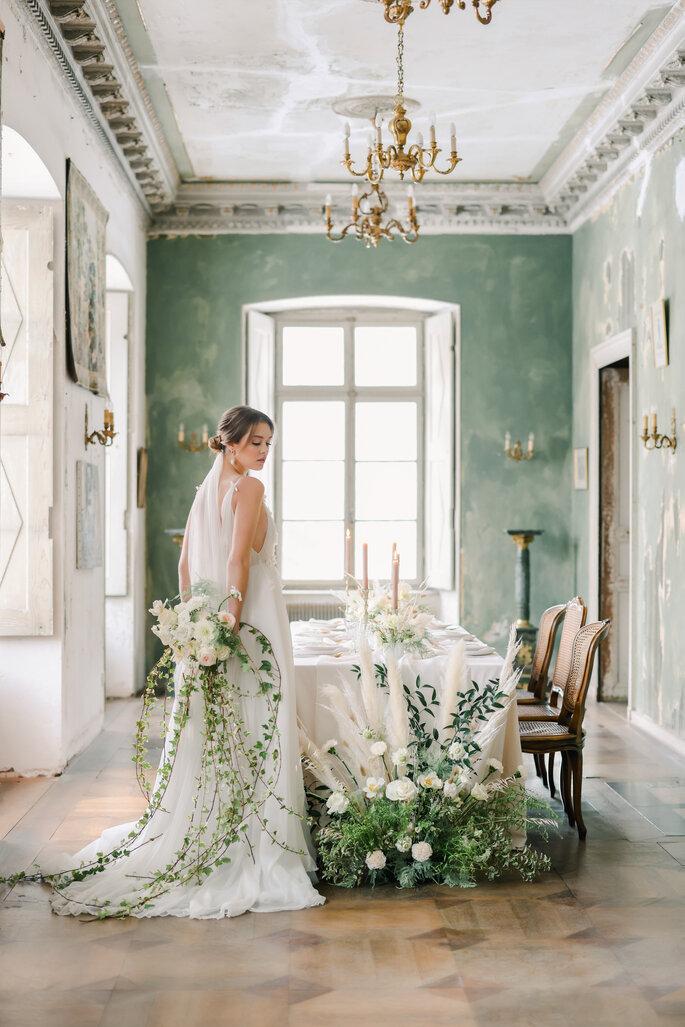 Schlosshochzeit elegant in Frankreich