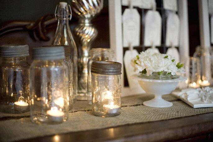 Las ideas más originales para usar los mason jars en tu boda - Blynda DaCosta Photography