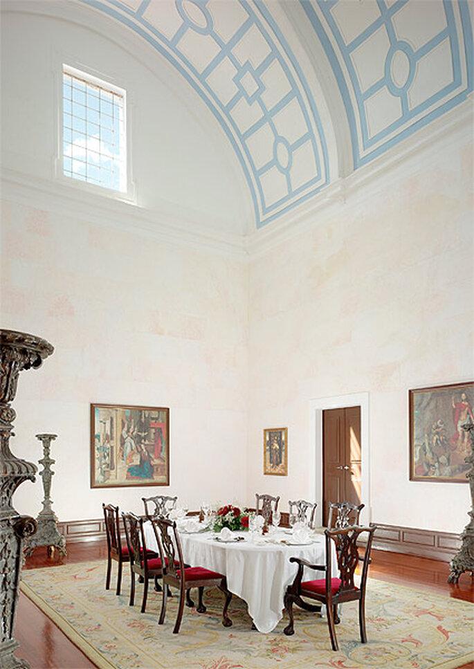 La sala Frei Carlos adapta parte del antiguo convento a las necesidades del hotel. Foto: Convento do Espinheiro