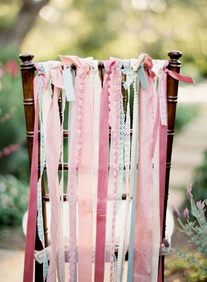 Decorá las sillas en tu boda - Fotos: Jose Villa