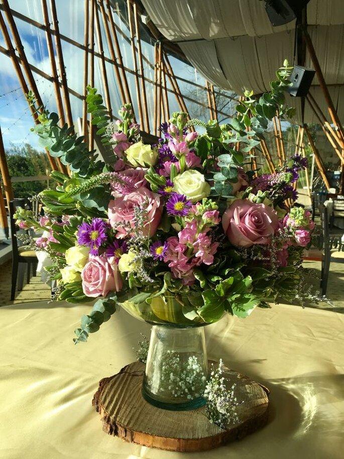Flores Alhelí decoración floral bodas