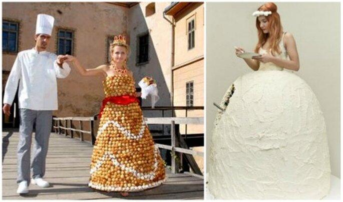 Vestidos de novia comestibles